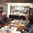 Rreunião editorial com Edileila Portes e Guilherme Carvalho. Foto: Vinícius Cabral.