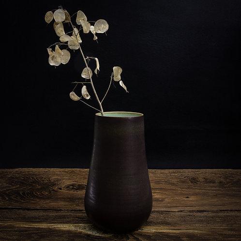 chestnut brown tall vase