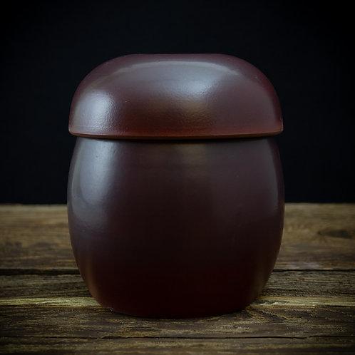 Chestnut brown fermentation crock
