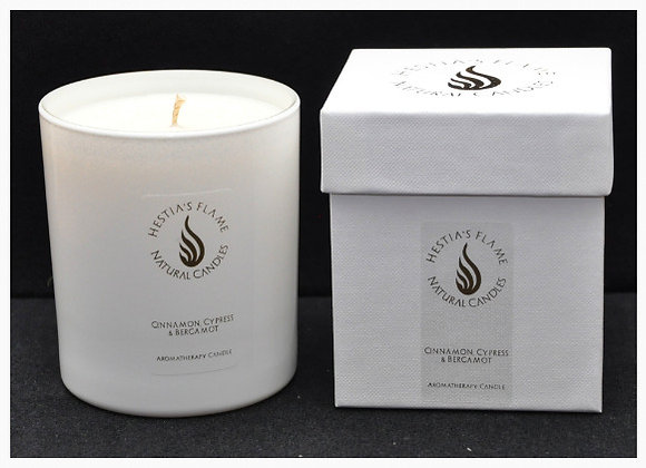Cinnamon, Cypress & Bergamot Large Candle