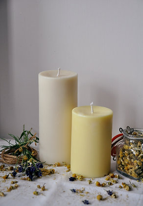 Small Lavender and Chamomile pillar candle