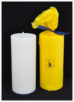 Small Pure Soy Wax Pillar Candle (unscented)