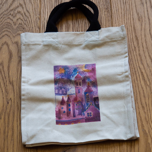 Lunch/small shopper bag - Farey Castle by Sue Edwards