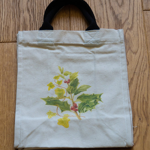 Lunch/small shopper bag - Red Berries by Sue Edwards