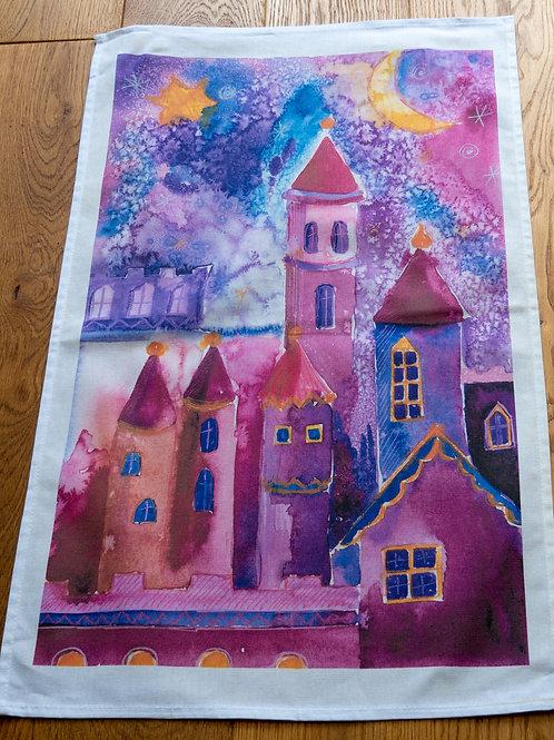 Tea Towel - Farey Castle by Sue Edwards