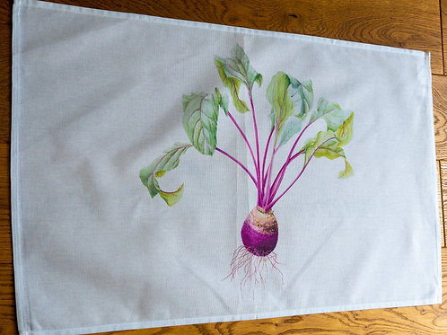 Tea Towel - Turnip by Sue Edwards