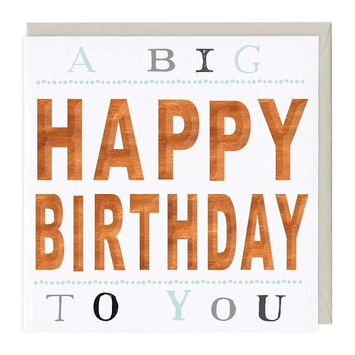 A Big Happy Birthday To You 3D Card