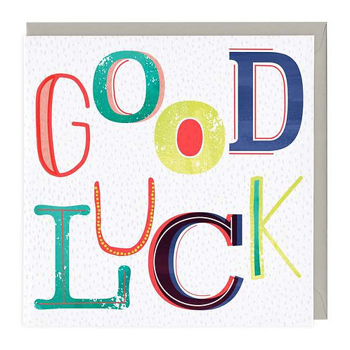Good Luck Neon Card