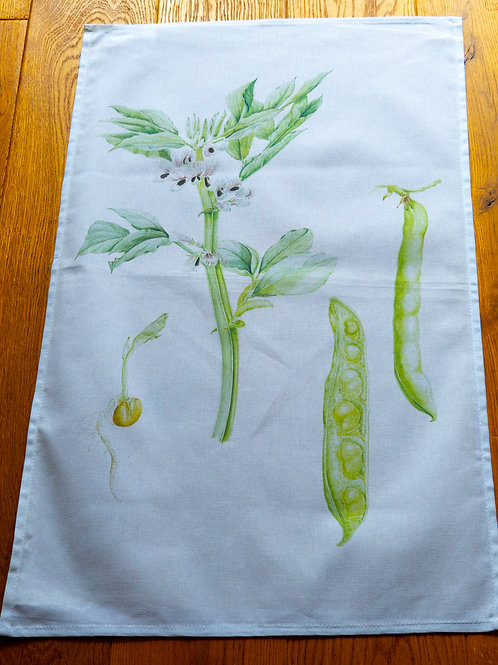 Tea Towel - Peas by Sue Edwards