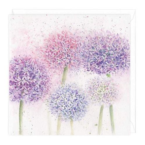 Alliums Floral Greeting Card