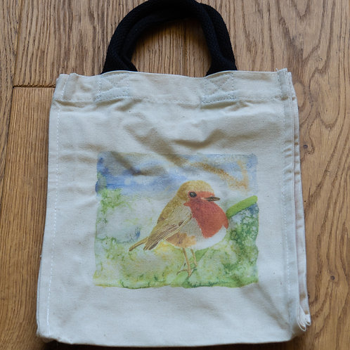 Lunch/small shopper bag - Robin by Sue Edwards