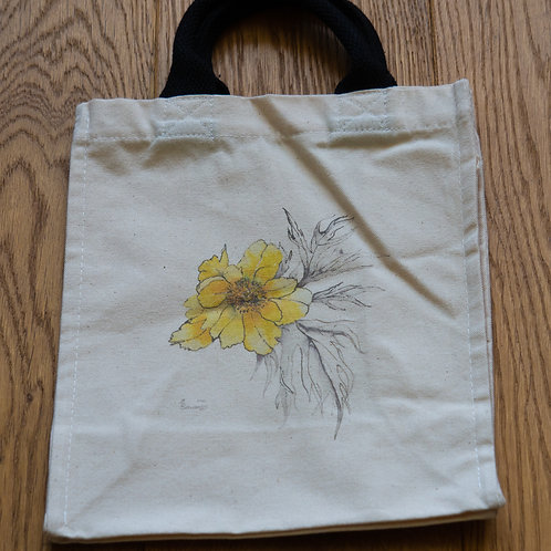 Lunch/small shopper bag - Yellow flowers by Sue Edwards