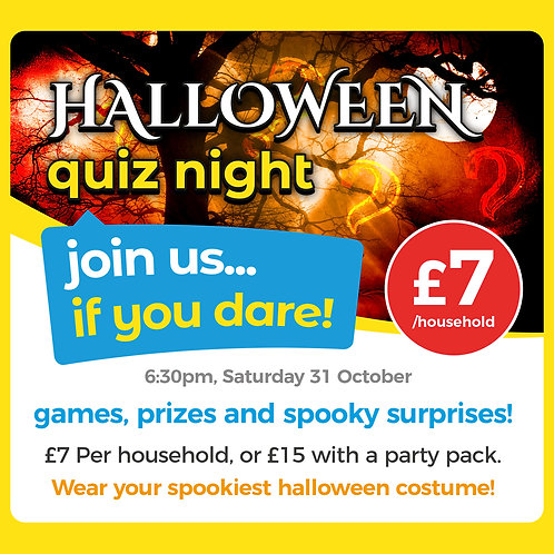 Halloween Quiz Night with Party Pack