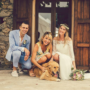 Hochzeitszeremonie mit Hund auf Finca Mallorca