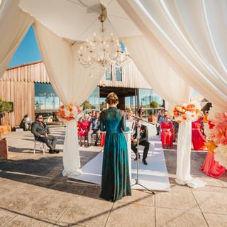 Wedding ceremony at Cap Rocat Hotel Mall