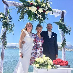 Wedding ceremony French Spanish English