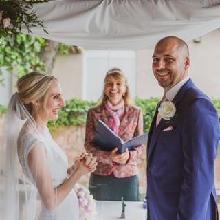 Hochzeitszeremonie in Villa Italia Port