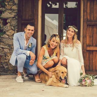 Hochzeitszeremonie auf Mallorca mit Hund