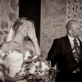 Tears of joy at Son Marroig wedding Mall