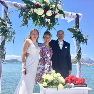 Freie Trauung am Meer auf Mallorca mit C