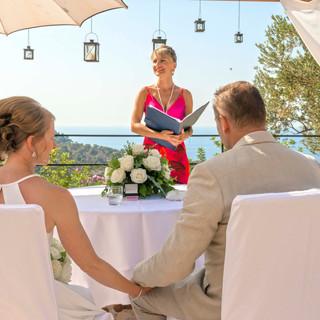 Hochzeitszeremonie in Deia Residencia Ho