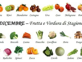 Dicembre. Frutta e verdura di stagione