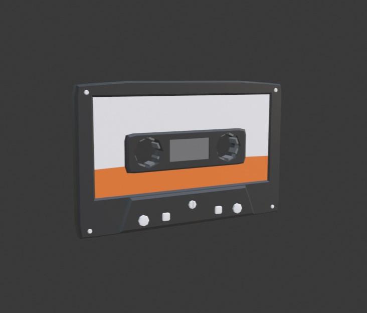 Stylized Cassette Tape