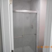 New bathroom shower stall