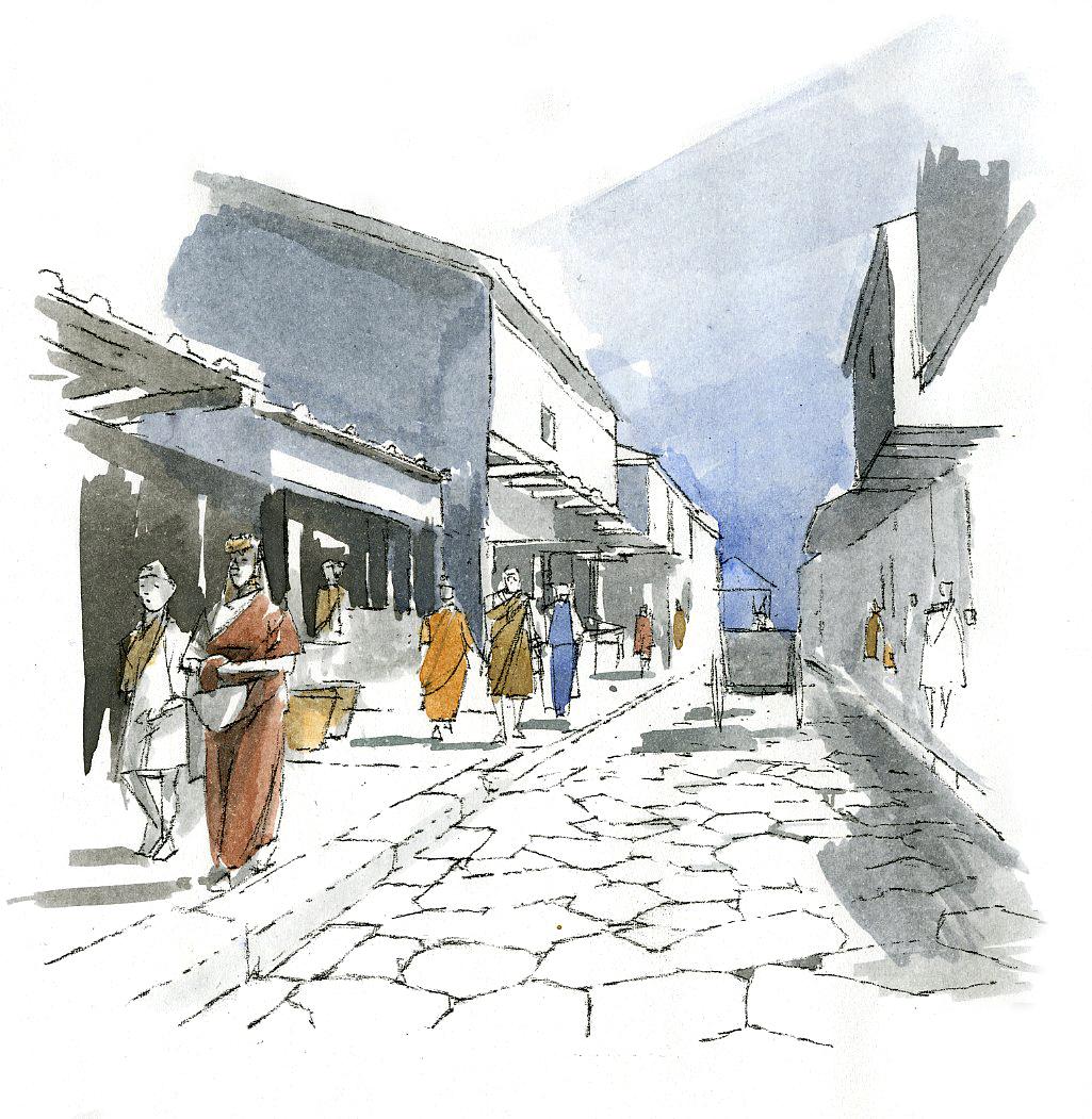 Route pavées
