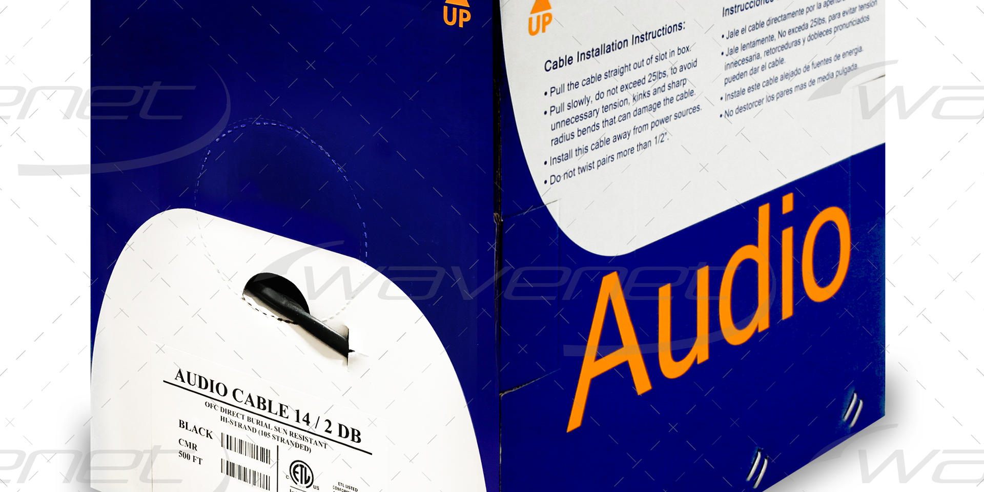 AUDIO CABLE 14/2 DB UV RATED 500'