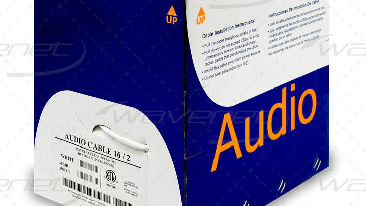 AUDIO CABLE 16/2 OFC CMR 500'