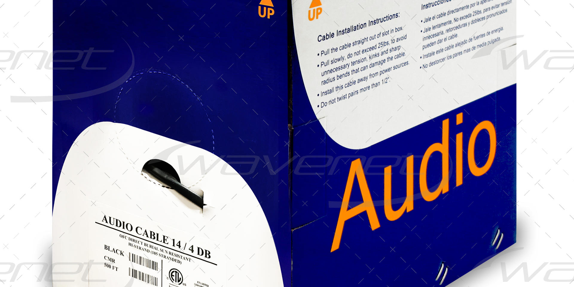AUDIO CABLE 14/4 DB UV RATED 500'