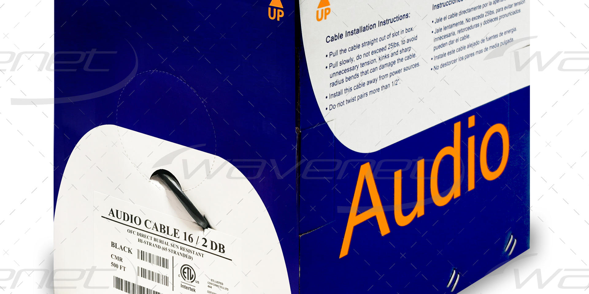 AUDIO CABLE 16/2 DB UV RATED 500'