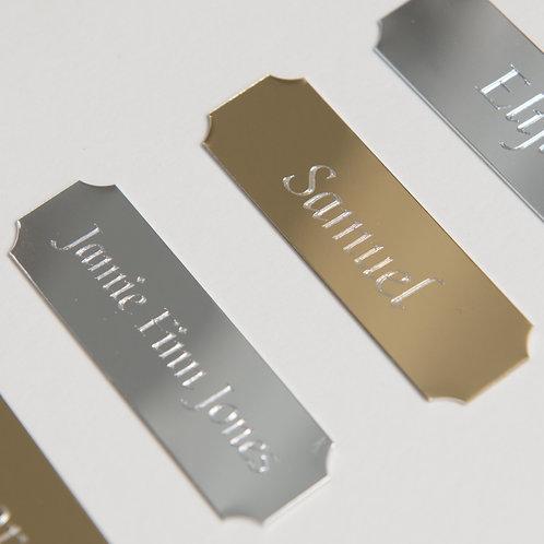 Personalised engraved nameplate