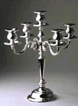 5 Branch Candelabra Silver
