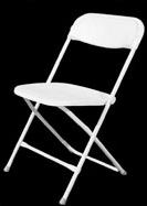 Wedding White Folding Chair