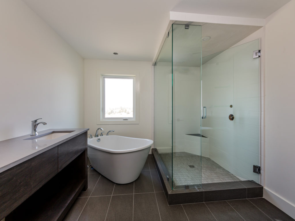 modern Ensuite built by Impact builders