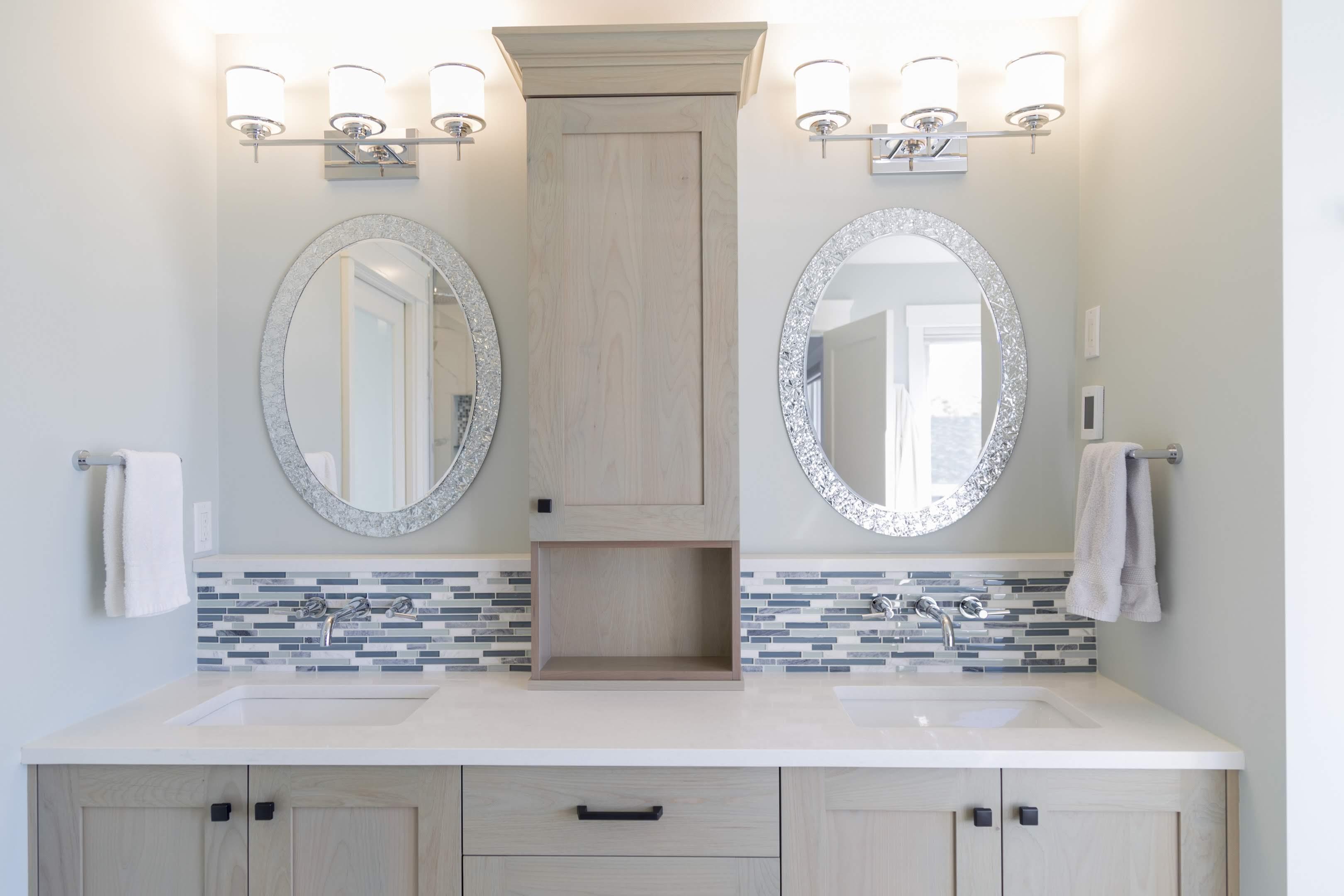 Ensuite with dual vanity built by Impact Builders