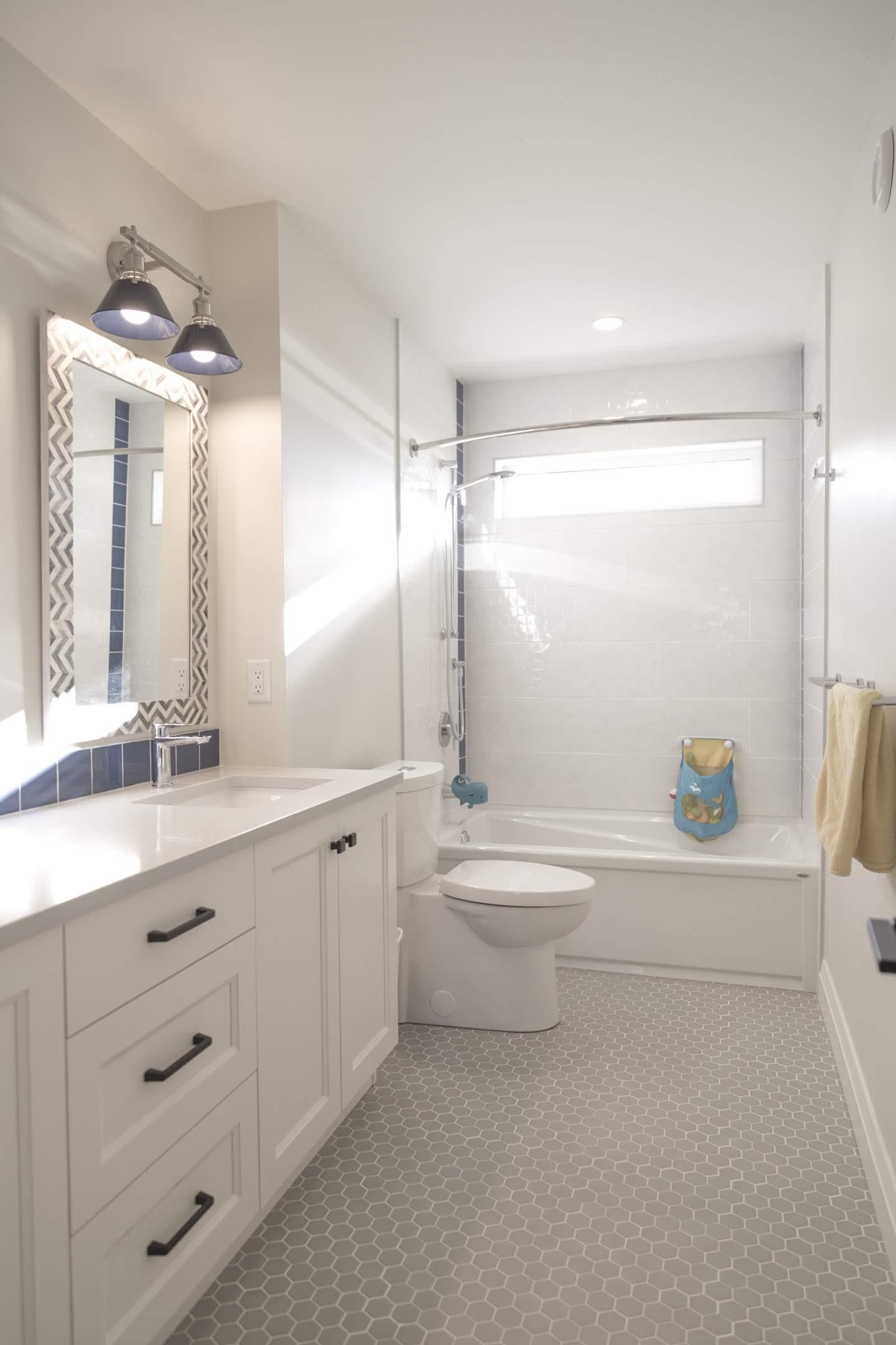 Kids bathroom built by Impact Builders