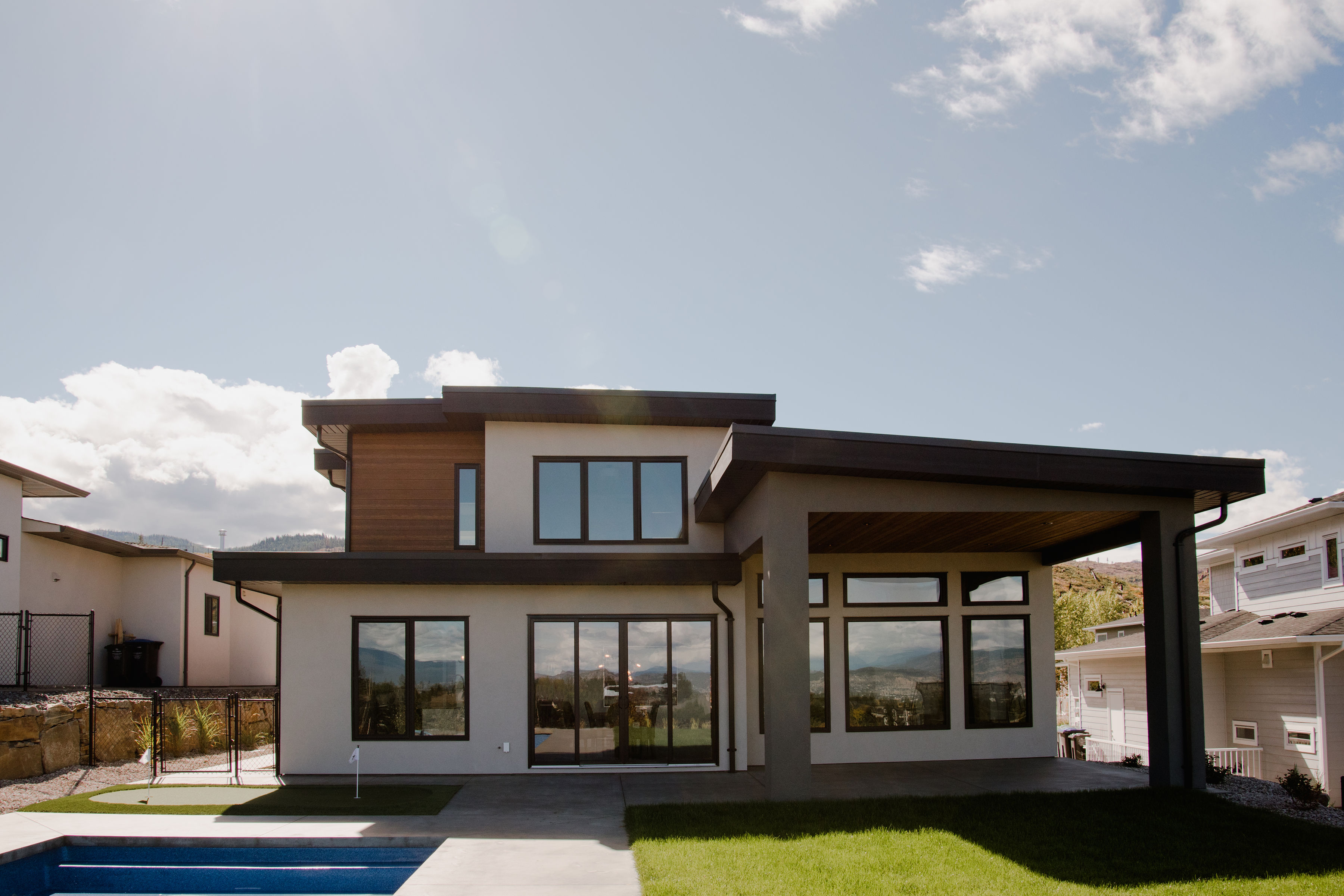 modern exterior by impact builders