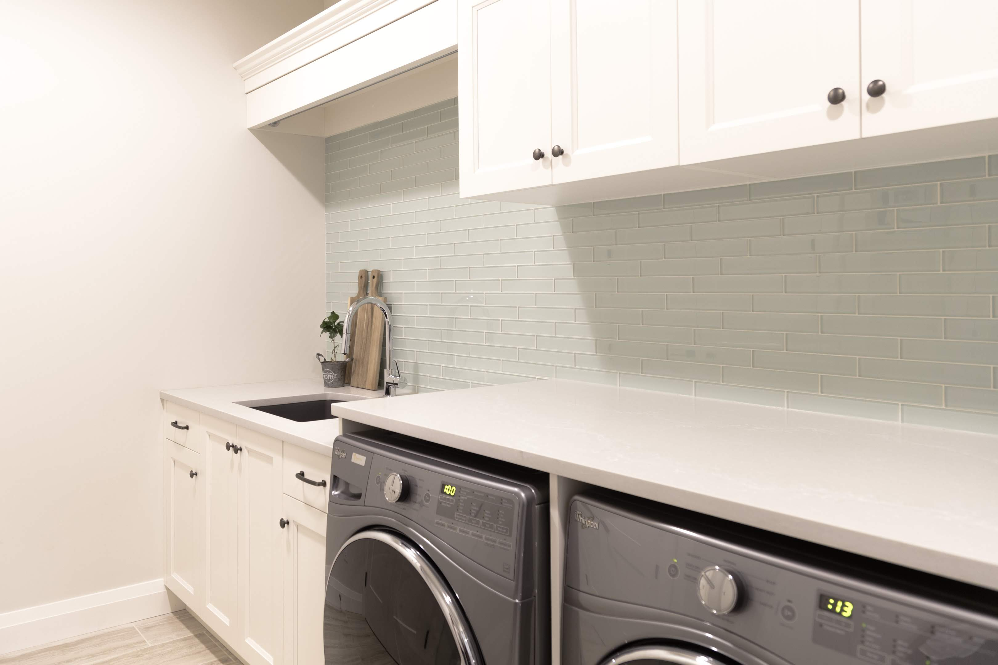 clean Laundry room built by Impact Builders