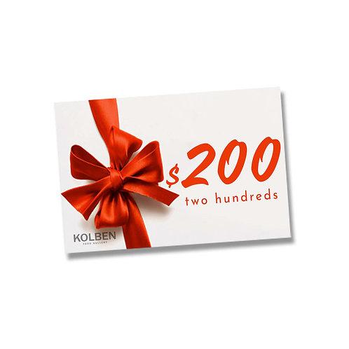 E-gift Card $200