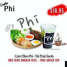 Combo 1: ComTam Phi + ThaiGreenTea