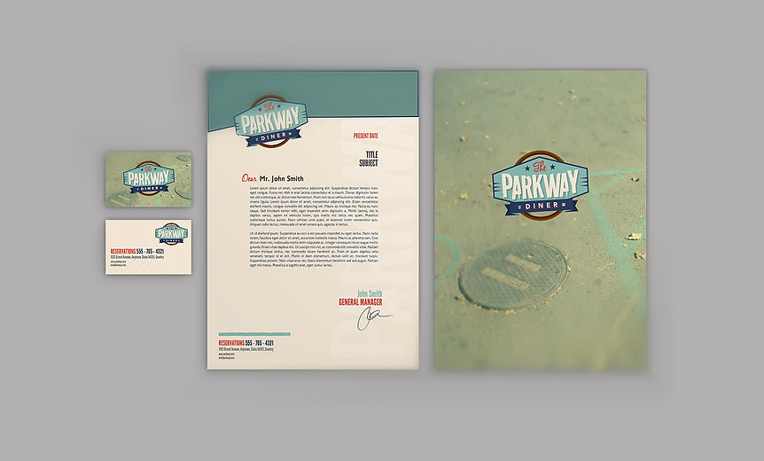 Graphic, Business card, Letterhead