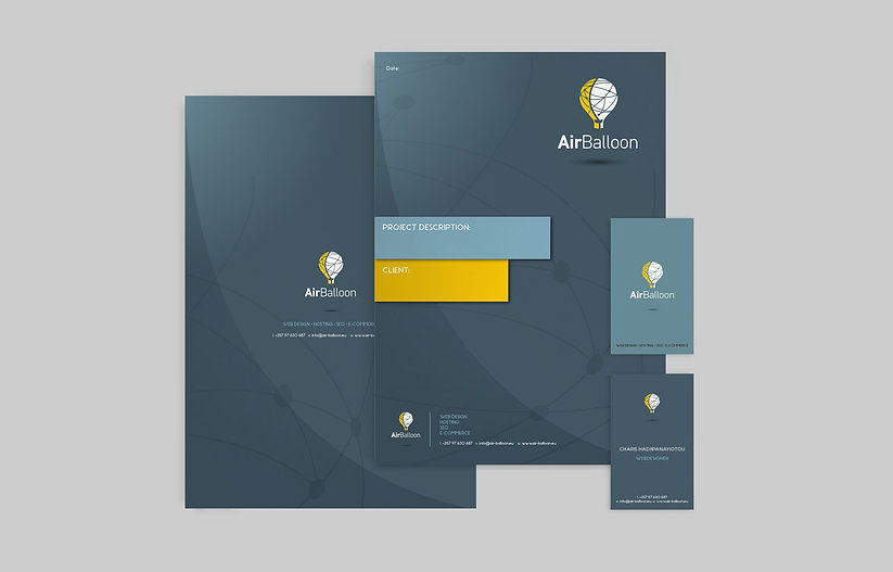Corporate Identity, layout, cyprus
