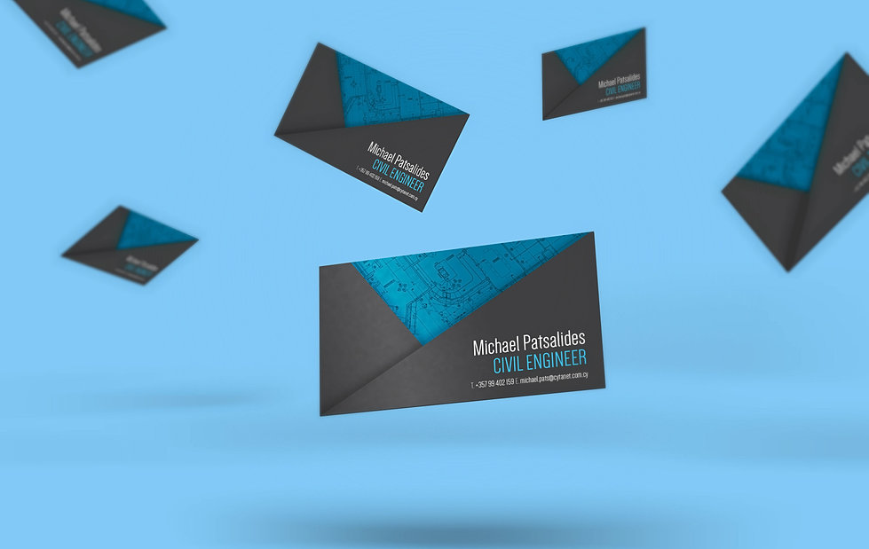 civil engineer business card design