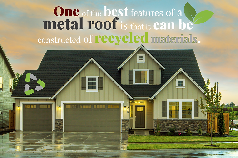 recycled material in metal roofing