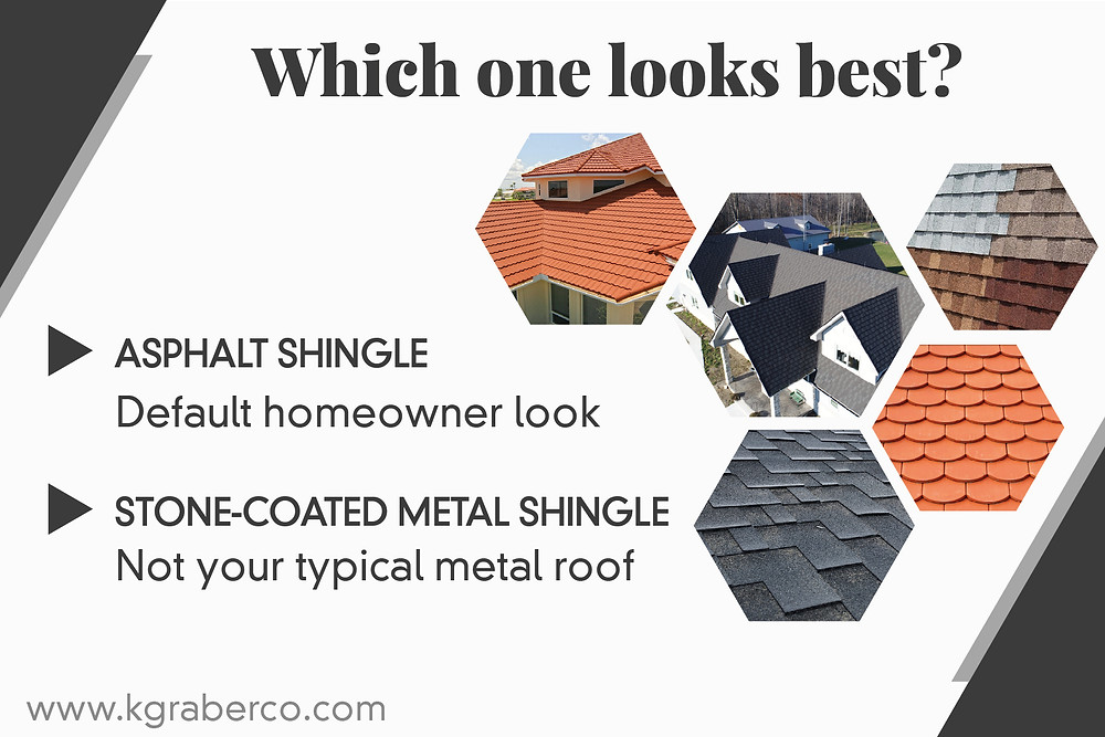 which one looks the best- stone coated or asphalt shingles