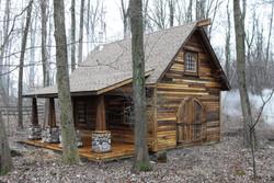 18x24 8x20 porch, poplar custom with clear, shakewood