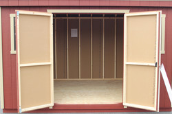 5' Double Doors with Straight Trim